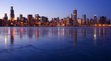 Icy Downtown Chicago - taken at -5F.