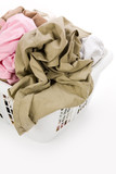 laundry basket and dirty clothing poster