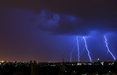 Electrical Storm over the City
