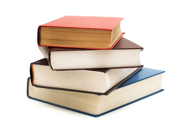 Four books isolated on the white background