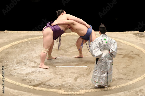 Foto Spatwand Japan Sumo fight