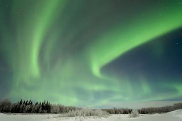 Aurora over Frozen Lake