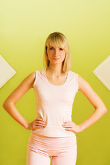 Young woman ready for fitness exercise