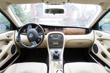 interior of exclusive limousine - photo taken by lens 12mm