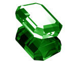3d Emerald isolated  poster