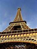 Eiffel Tower, a closeup at daylight - Paris