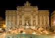 Fontana di Trevi, Roma notturna, Italia