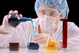 Scientist working in a laboratory poster