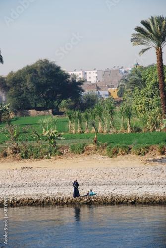 Fisherman at River Nile Egypt