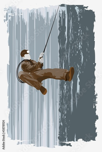 mountain -climber on the wall, illustration