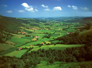 The pays basque countryside pyrenees atlantique aquitaine