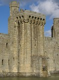 tower of a castle/ fortification. castellated top poster