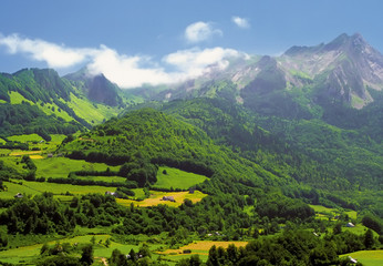The pyrenees on the france spain border