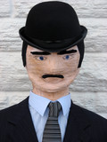 Dummy dressed up as businessman. poster