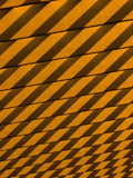 Shadows cast on wooden slats in orange poster