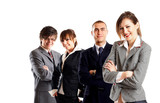 Young attractive business people - businessteam