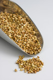 a scoop of buckwheat (kasha), toasted whole grain poster