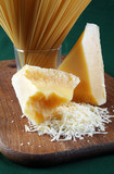 Dairy product parmesan cheese broken closeup view poster