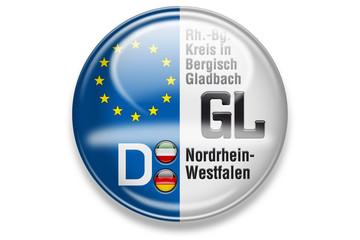 Autokennzeichen: GL, Rh.-Bg. Kreis in Bergisch Gladbach