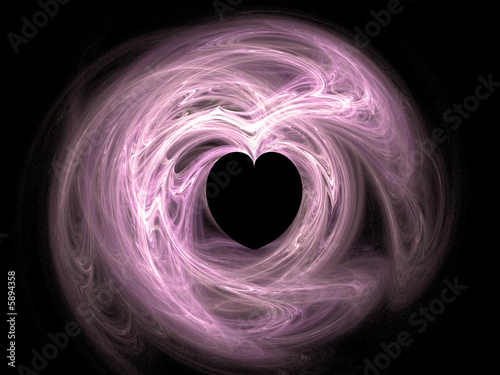2D fractal illustration of a valentine heart.