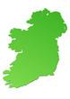 Carte de l'Irlande verte