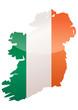 Carte de l'Irlande (Drapeau métal)