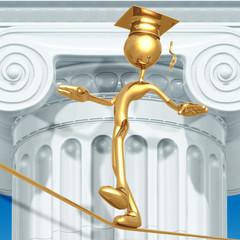 Golden Grad Tight Rope Walking