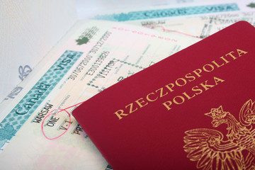 Polish Passport with canadian visa