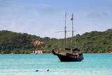 Pirate ship replica in St Thomas, USVI poster