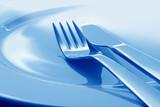 Fototapety Teller mit Gabel und Messer