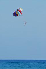 Parachuting under sea