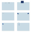 Blank blue labels, with clipping path for each label.