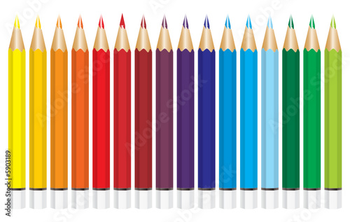 colored vector pencils