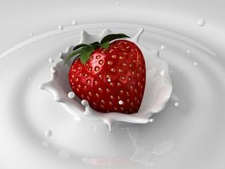 erdbeer-milch splash