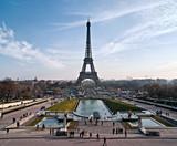 Fototapety La tour Eiffel depuis le Trocadéro.