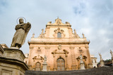Modica baroque duomo holy Peter  statue apostle
