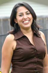 Hispanic Woman Laughing 2