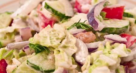 vegetable salad with a mayonnaise