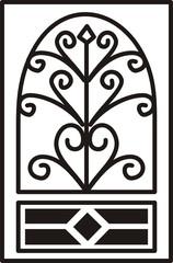 diseño en hierro forjado