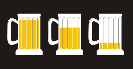 niveles de cerveza