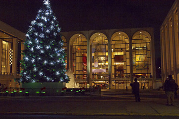 Christmas Tree and Lights at Lincoln Center