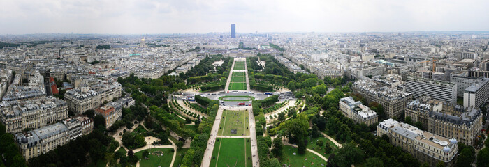 Paris, panorama with Eiffel Tower