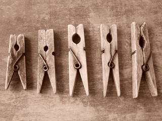 old clothes pegs