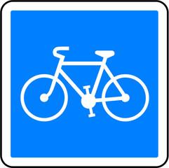 panneau piste cyclable