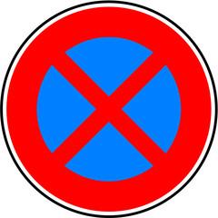 Panneau stationnement et arret interdit