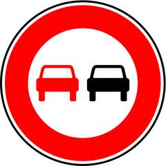 Panneau interdiction de dépasser