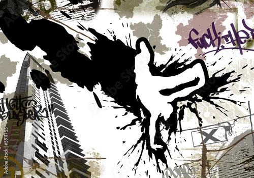 Fototapeta Flyer Breakdance Urban Art Wallpaper