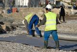 Ouvrier de chantier, France.