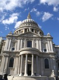entrance of saint paul cathedral in London poster