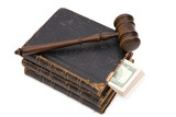 legal concept with gavel, law book and Us dollar  poster